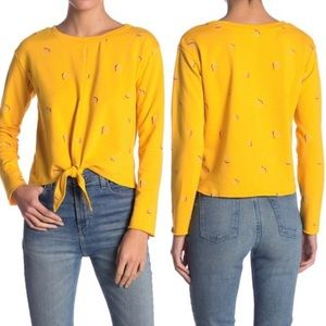 Love, Fire Yellow Sweater Top